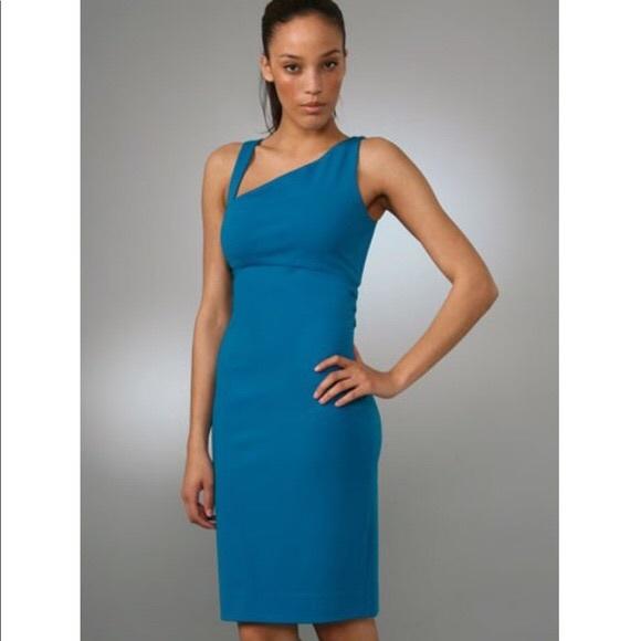 Diane Von Furstenberg Dresses & Skirts - DVF Blue tank bodycon blue straps dress 4 Nomie